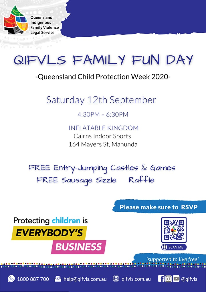 QIFVLS Family Fun Day Cairns| QLD Child Protection Week 2020 image