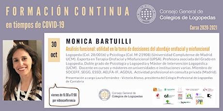 Videoconferencia a cargo de Monica Bartuilli entradas