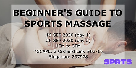 Beginner's Guide to Sports Massage (Upper Body) tickets