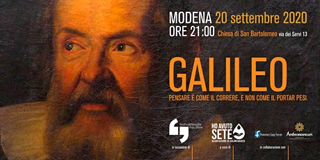 ff20 | Galileo - Pensare è  come il correre, e non come il portar pesi. biglietti
