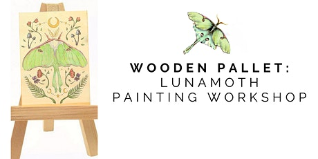 Wooden Cavas Painting: Luna Moth tickets