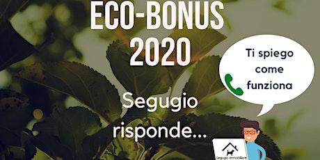 Eco-bonus 2020 biglietti