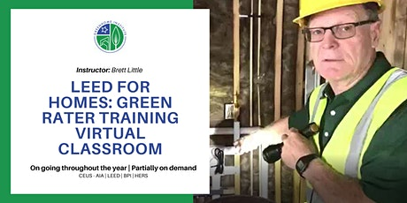 LEED for Homes Virtual Green Rater Credentialing Training boletos