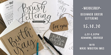 Beginner Brush Lettering Workshop tickets