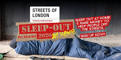 Streets of London Sleep-Out At Home 2020 tickets