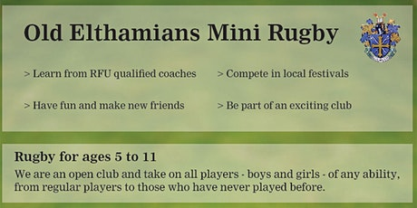 Old Elthamians Rugby mini's open morning tickets