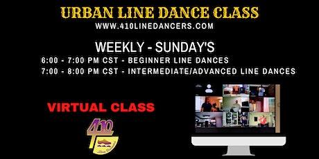 SUNDAY - Urban Line Dance Virtual Class- Beginner Line Dance tickets