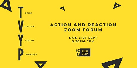The TVYP 'Action and Reaction' Online Forum tickets