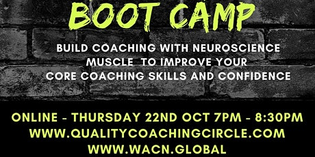Agendas Bootcamp - Build Coaching with Neuroscience Muscle tickets