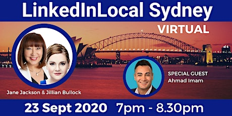 LINKEDIN LOCAL SYDNEY - FREE Virtual Networking 23 Sept 2020 tickets