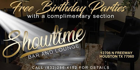 Free Birthday Party at Showtime Bar and Lounge tickets