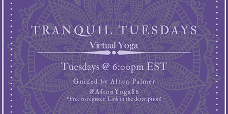 Tranquil Tuesdays tickets