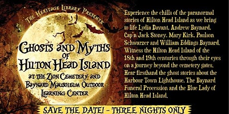 2020 Ghosts and Myths of Hilton Head Island tickets