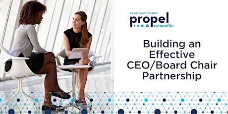 Building an Effective CEO/Board Chair Partnership  (Virtual) - December 8th tickets