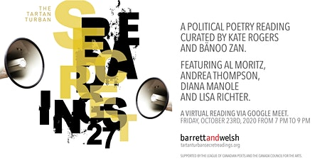 Tartan Turban Secret Readings #27: A Political Poetry Reading tickets