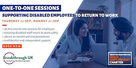One-to-One Session: Supporting Disabled Employees to Return to Work tickets