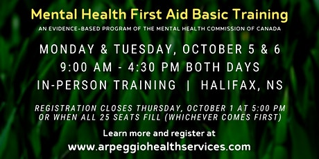 Mental Health First Aid Basic Training - Halifax, NS tickets