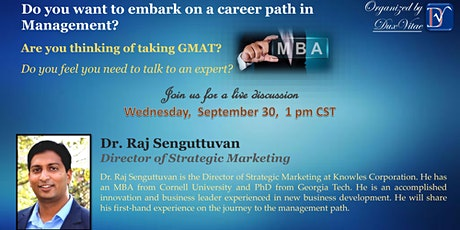 Pursuing a Career in Management - preparing for GMAT and MBA admissions  tickets
