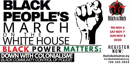 Black People's March On White  House tickets