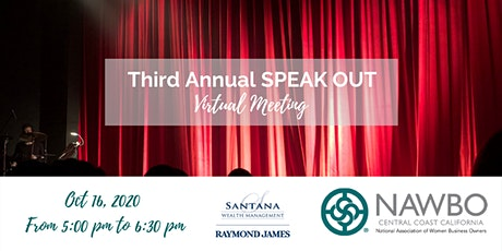 SPEAK OUT presented by NAWBO Central Coast California tickets