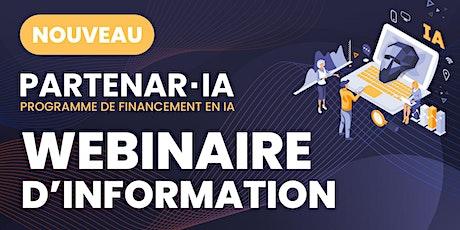 Lancement des programmes Partenar-IA 2020 avec tous les RSRI du Québec billets