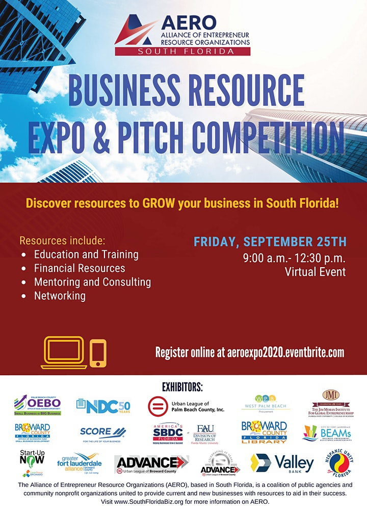 AERO Small Business Expo & Pitch Workshop - South Florida image