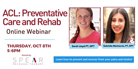 ACL Preventative Care and Rehab tickets
