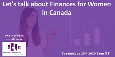 Let's talk about Finances for Women in Canada (Virtual event) tickets