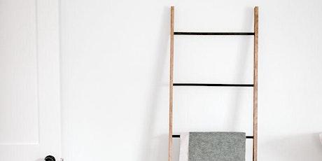DIY Copper + Wood Ladder tickets