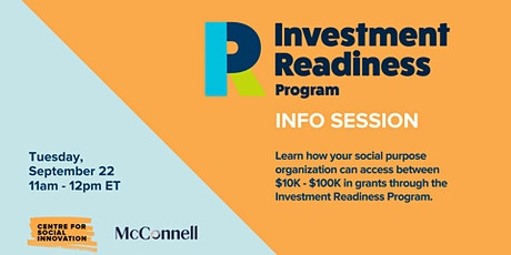 Investment Readiness Program Info Session tickets