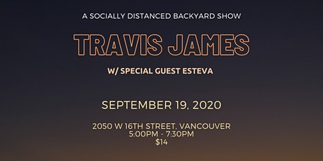 Travis James w/ special guest Esteva tickets