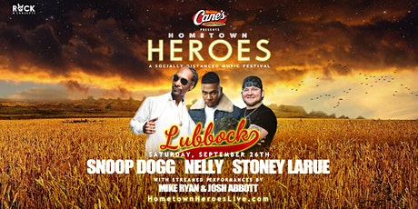 Snoop Dogg, Nelly, Stoney LaRue LIVE in LUBBOCK  Starting at $52/Person tickets