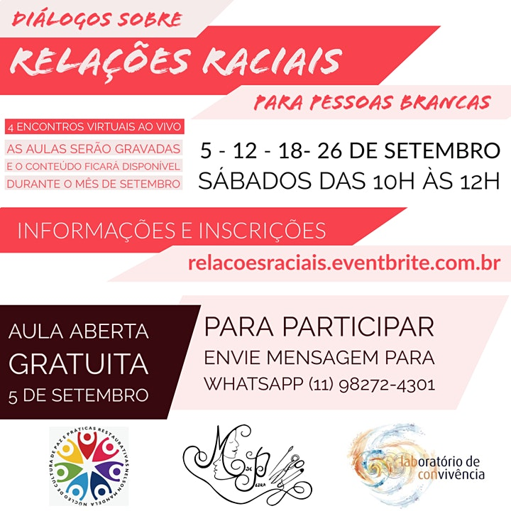 Imagem do evento Diálogos sobre Relações Raciais para pessoas brancas