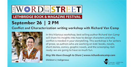Conflict and Characterization: a writing workshop with Richard Van Camp tickets