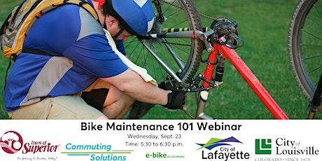 Bike Maintenance 101 Webinar tickets