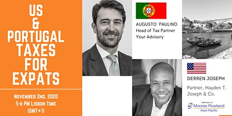 WEBINAR on U.S/Portugal Taxes for Expats (Lisbon Portugal Time) tickets