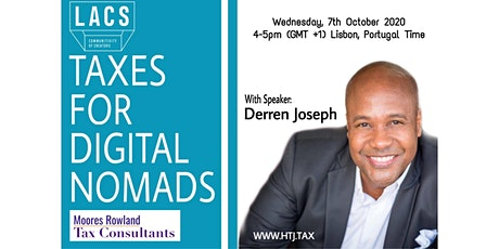 WEBINAR on Taxes for Digital Nomads (Lisbon, Portugal Time) tickets