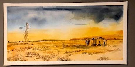 Watercolour class - Landscapes (live online painting class) tickets