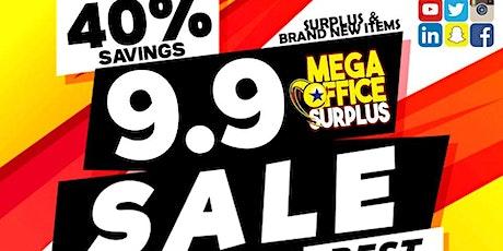 9.9 Sale at Megaoffice Surplus Furniture Shop tickets