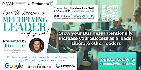 How to become a Multiplying Leader and Grow! tickets
