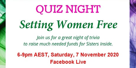 WILPF Quiz - Setting Women Free - a fundraiser for Sisters Inside tickets