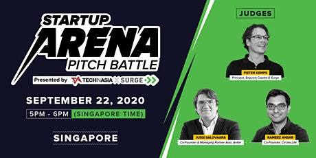 [Free] Singapore - Startup Arena Pitch Battle Semifinals tickets