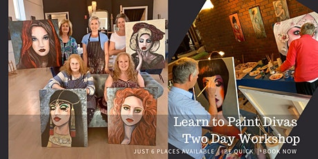 Learn to Paint Divas TWO DAY Painting Workshop10th/11th October 20 tickets