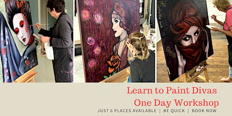 Learn to Paint Divas THREE DAY Painting Workshop 9th-11th October 2020 tickets