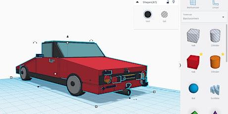 3D ontwerpen - Maak je eigen sleutelhanger  [10 - 16 jaar] tickets