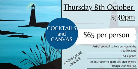 Cocktails and Canvas tickets
