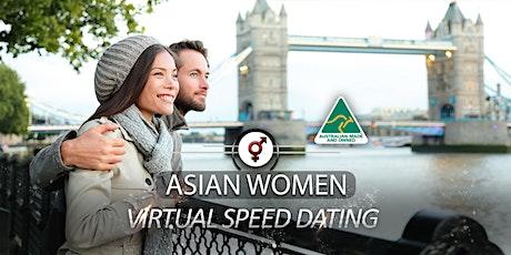 Asian Women VIRTUAL Speed Dating | F 46-59, M 48-62 | October tickets