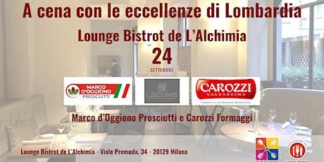 A cena con le eccellenze di Lombardia biglietti