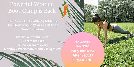 Powerful Women Online 12 Week Boot Camp tickets