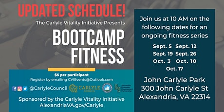 Bootcamp  Series starts at John Carlyle Square Park! Rain or Shine ! tickets